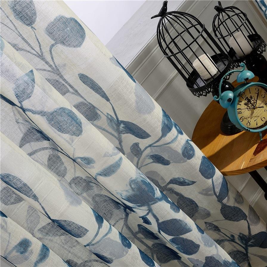藍染風に合うレースカーテン