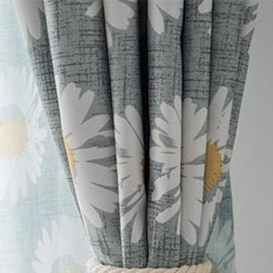 爽やかなひまわりの花柄のドレープカーテン