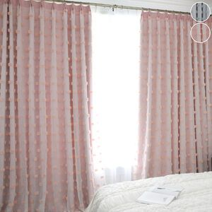 プリンセス風のドレープ&レース一体型カーテン