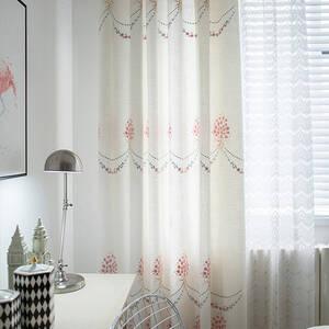 エレガントな小花刺繍カーテン