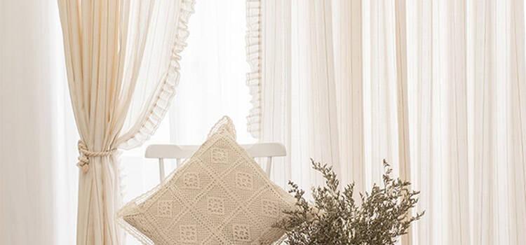 定番の姫系一体型カーテン