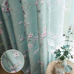愛しい花柄カーテン