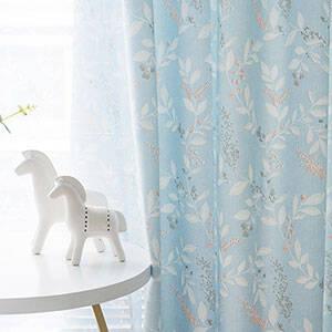 爽やかな花水木モチーフのカーテンセット