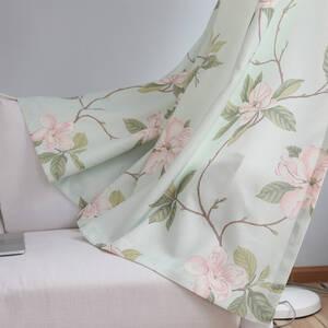 リュクスな花柄のレース付きセットカーテン