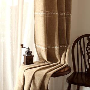 ナチュラルでエキゾチック感が溢れるカーテン